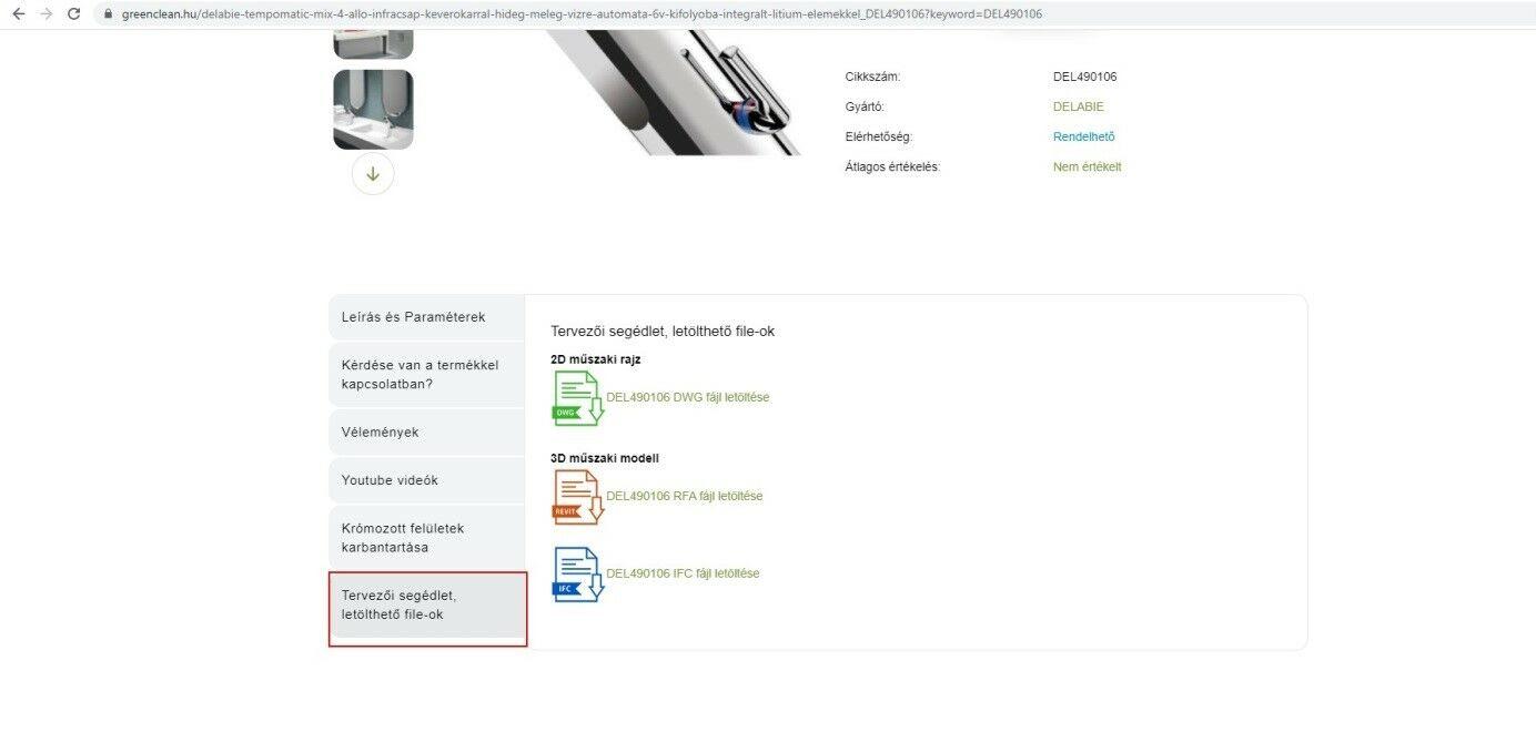 válasszuk ki a Tervezői segédlet, letölthető file-ok fület