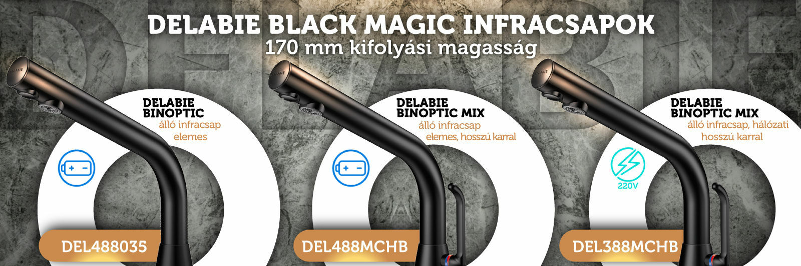 DELABIE Black Magic infracsapok