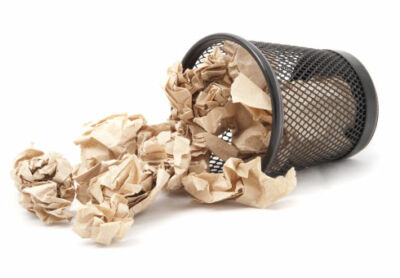papír hulladék papír törölközők használata után